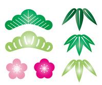 Pine, bamboo, and plum [2802848] Pine