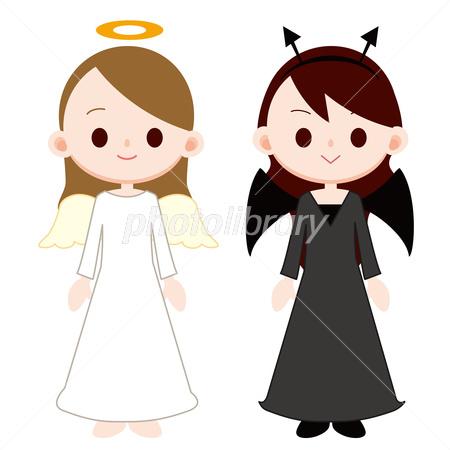 若い女性 天使と悪魔 イラスト素材 2883679 フォトライブラリー