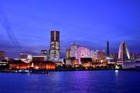 Yokohama Port of night view Stock photo [2882929] Yokohama