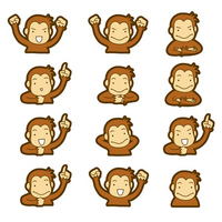 Monkey 12 pose [2885530] APE