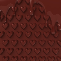 For chocolate background of melted Heart Pattern material [2886161] Melting