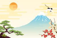 Fuji and Sho Chiku Bai and crane [2886781] Mt.