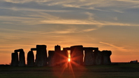 Stonehenge sunset Stock photo [2887647] United