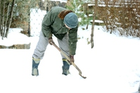 Man for the snow shoveling Stock photo [2965218] Jobs