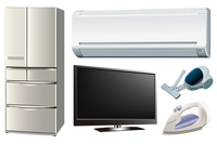 Consumer electronics illustration set [2968887] An