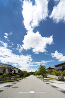 Streets of Saku flat Stock photo [2970403] Nagano