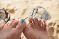 Feet with a sand Stock photo [2970814] Sandy