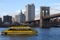 Brooklyn Bridge and the water taxi Stock photo [2973465] Brooklyn