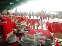 The restaurant's terrace seat Stock photo [86435] Italy