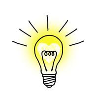 Light bulb that shines in heart mark [3054255] Light