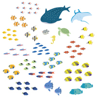 Tropical fish icon set [3061090] Tropical