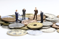 Coin and businessman Stock photo [3064816] Coins
