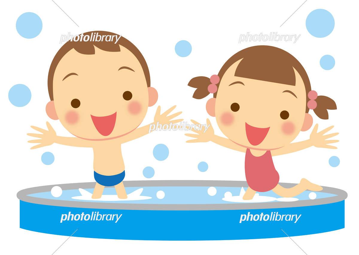楽しい水遊び 園児 イラスト素材 3136788 フォトライブラリー