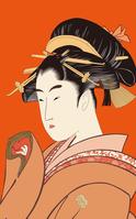 Utamaro song Sen love Noriyuki part rare two 逢恋 image illustrations stock photo