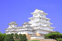 July Hyogo save repair works after completion of Himeji Castle tower group Stock photo [3243528] Himeji