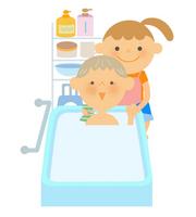 Senior bathing assistance [3244093] Zinnia