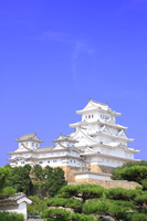 July Hyogo save repair works after completion of Himeji Castle tower group stock photo