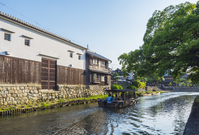 Omi, Hachiman moat and houseboat Stock photo [3251782] Shiga