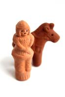 Clay image people and horses Stock photo [3253031] Haniwa