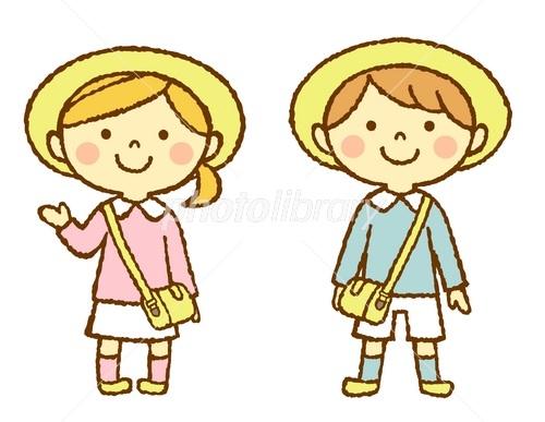 幼稚園児 男の子 女の子 イラスト素材 3344938 フォトライブラリー