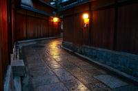 Kyoto alley of rain Stock photo [3343083] Kyoto