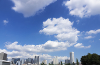 I hope the white clouds and Shinjuku skyscrapers panoramic view flowing to the blue sky Stock photo [3345535] Shinjuku
