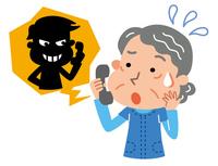 Scammers elderly woman illustrations [3345657] Oleoresin