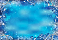 Light snow crystal ribbon background [3431980] Glitter