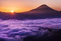 Sea of clouds and dawn Fuji Stock photo [3433742] New