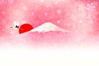 Fuji New Year's card background [3436937] Mt.