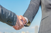 Businessman and OL for a handshake Stock photo [3441934] OL