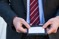 Businessman with business card Stock photo [3442013] OL