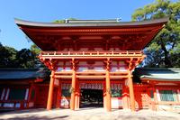 Tower gate of Hikawa Shrine Stock photo [3442623] Hikawa