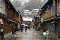 Higashi Chaya district of Kanazawa snow Stock photo [3527776] Kanazawa
