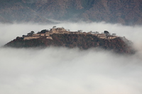Takeda Castle Stock photo [3530045] Clouds