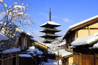 Snow of Kyoto Stock photo [3530237] Tower