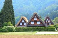 World heritage Shirakawa-go stock photo