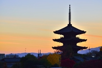 Tower of Yasaka evening grilled Stock photo [3641430] Tower