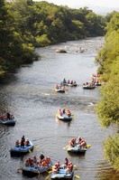 Rafting in the summer of Shiribetsu River Stock photo [3645832] Shiribetsu
