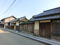 Iga Ueno castle town samurai residences Irimajiri house Nagaya-mon Gate and Hyo-ya Stock photo [3752560] Castle
