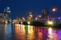 Bandai Bridge Illuminated Stock photo [3754722] Bandai
