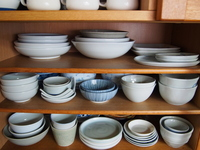 Tableware arranged in a cupboard Stock photo [3755898] Tableware