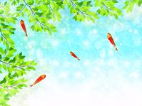 Goldfish summer greeting background [3756496] Goldfish