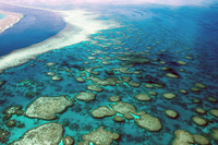 Great Barrier Reef, and Australia Aerial -1 Stock photo [3864556] Great