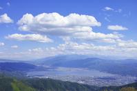 From the high bocce Plateau Lake Suwa Stock photo [3865471] High