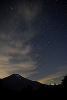 山中湖から見る夜景と富士山