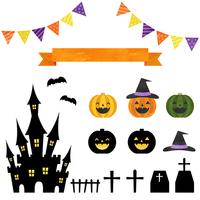 Halloween material set [3966655] Halloween