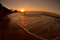 ダイヤモンドヘッドビーチの朝