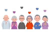 Senior smile Heart [3970072] Old
