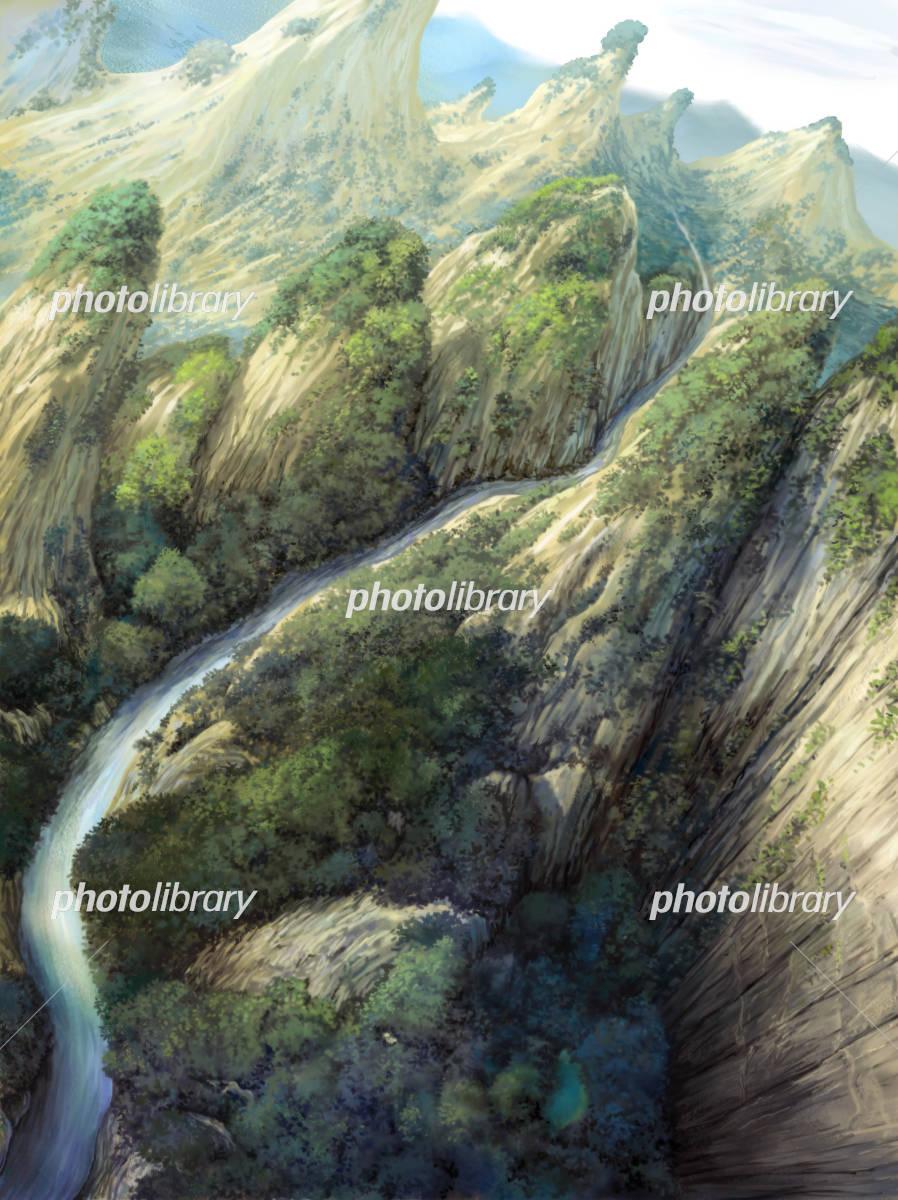 渓谷を見下ろす イラスト素材 4049609 フォトライブラリー